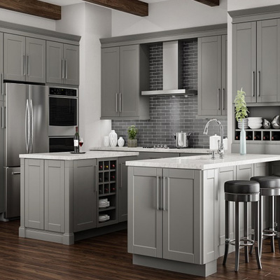 Exceptionnel Shop Hampton Bay Shaker Dove Gray Cabinets
