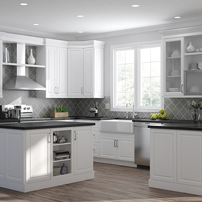 Elgin White Cabinets 10x10 layout starts at $2,187