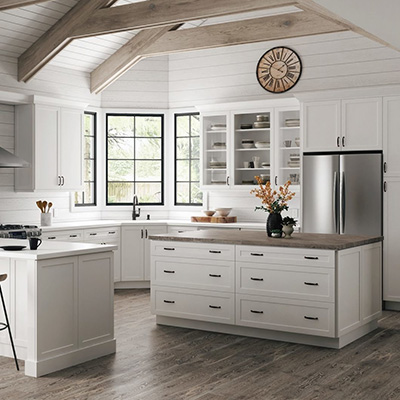 Melvern White Cabinets 10x10 layout starts at $2,259