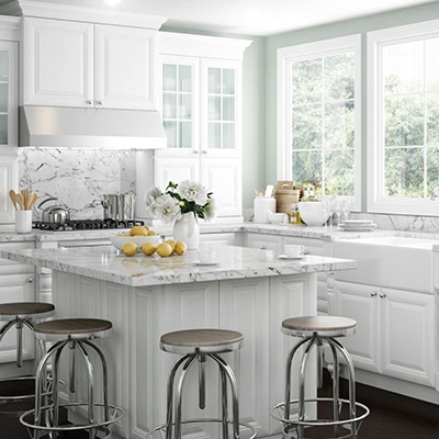 Home Decorators Collection Brookfield Pacific White Cabinets
