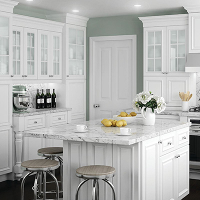Home Decorators Collection Coventry Pacific White Cabinets