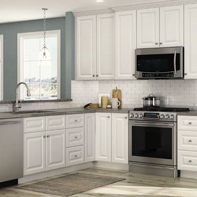 Kitchen Cabinets Color Gallery At The Home Depot Stunning White Kitchen Remodel Concept Decoration