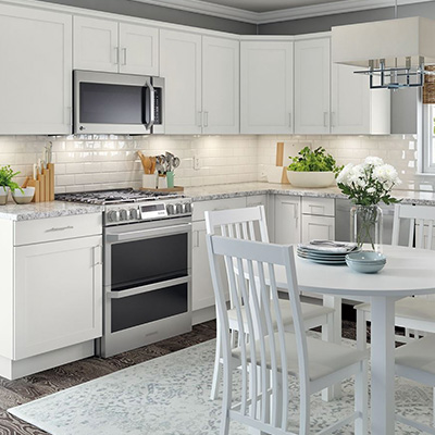 kitchen cabinets color gallery at the home depot rh homedepot com best white paint color for kitchen cabinets white paint color for kitchen cabinets