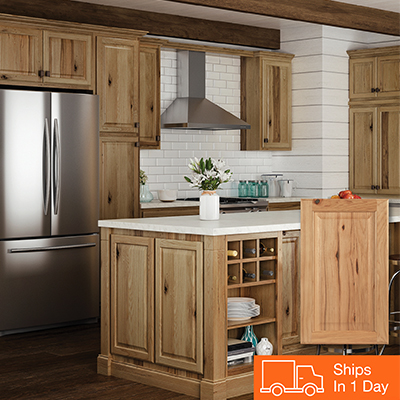 Shop Hampton Bay Hampton Hickory Cabinets