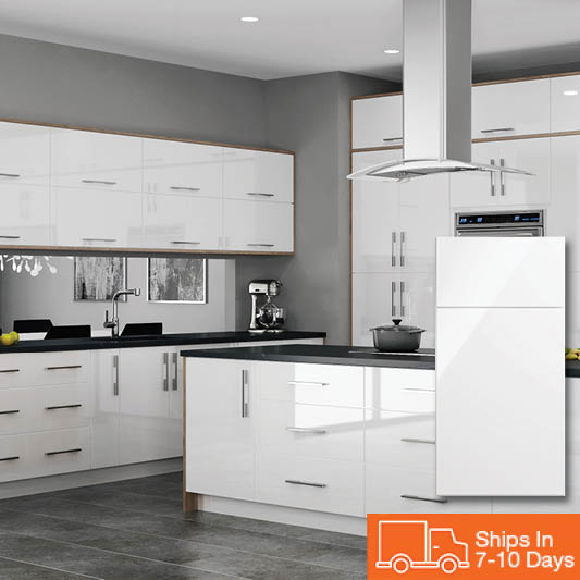 White Kitchen Cabinets High Gloss: Kitchen Cabinets Color Gallery At The Home Depot