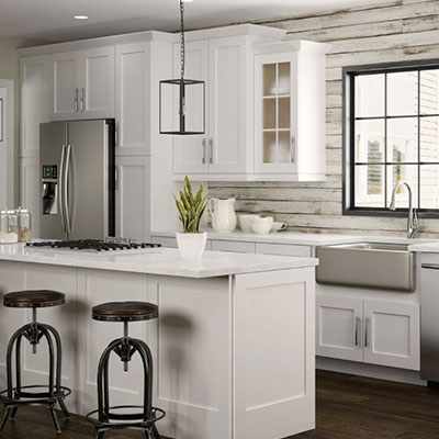 kitchen cabinets color gallery at the home depot rh homedepot com best white color for kitchen cabinets soft white paint color for kitchen cabinets