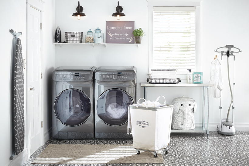 Coastal Retreat Laundry Room – Shop by Room – The Home Depot