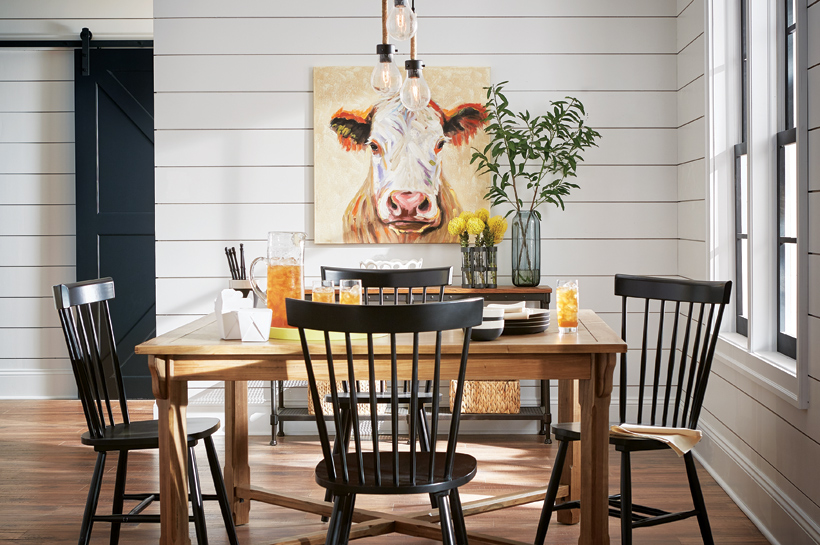 Modern Farmhouse Dining Room Shop By Room The Home Depot Simple Picture Of A Dining Room
