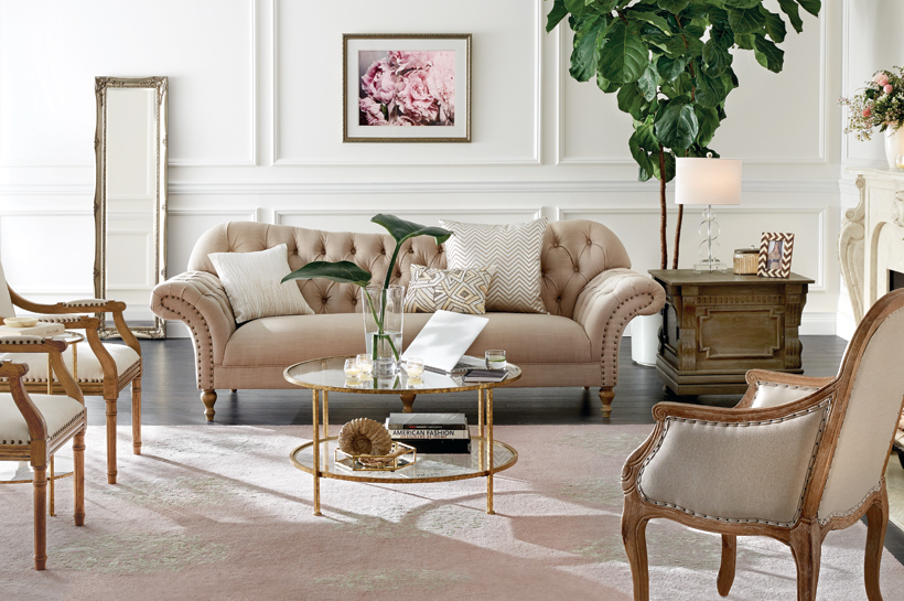 old hollywood living room vintage glam living room shop by room the home depot 16276