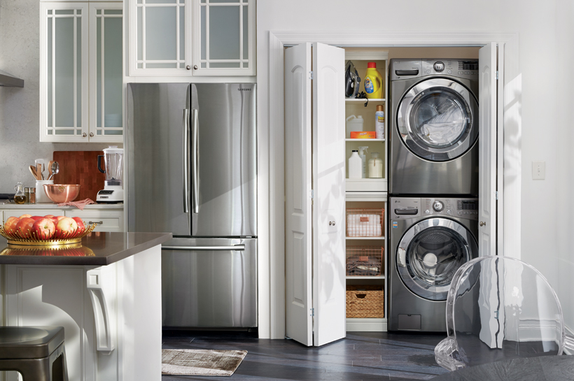 Vintage Glam Laundry Room – Shop by Room – The Home Depot