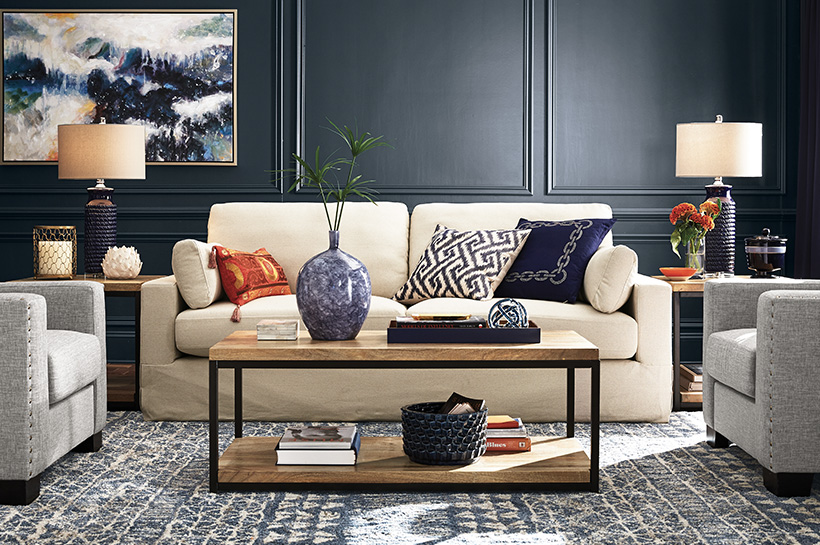 Bold Living Room The Home Depot