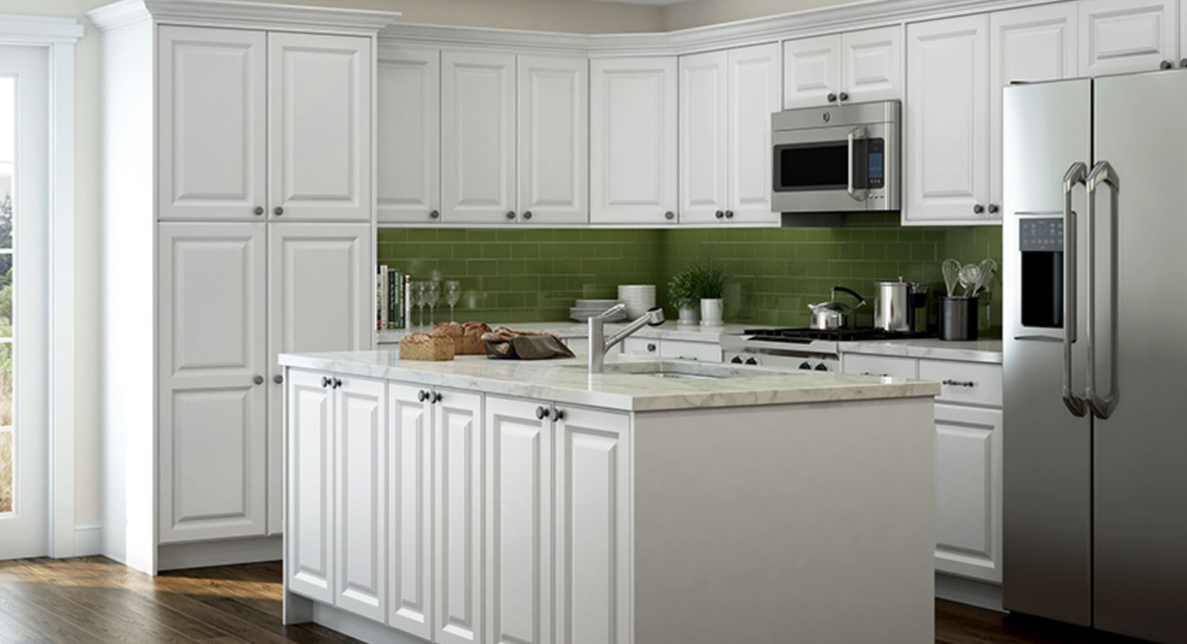 Anzio Cabinet Accessories In Polar White Kitchen The