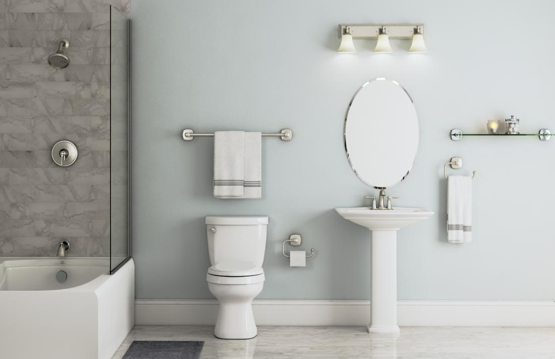 Linwood Collection in Brushed Nickel – Bath – The Home Depot