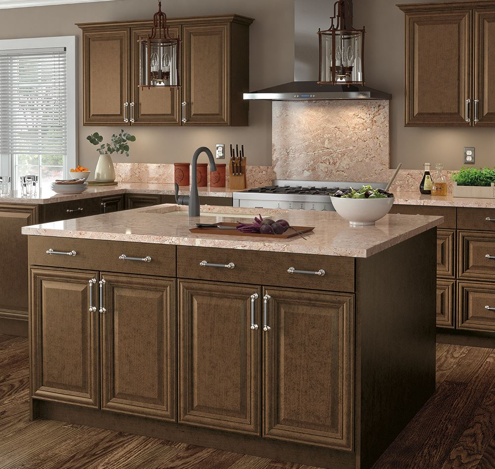 Custom Kitchen Cabinet Accessories: Benton Base Cabinets In Butterscotch