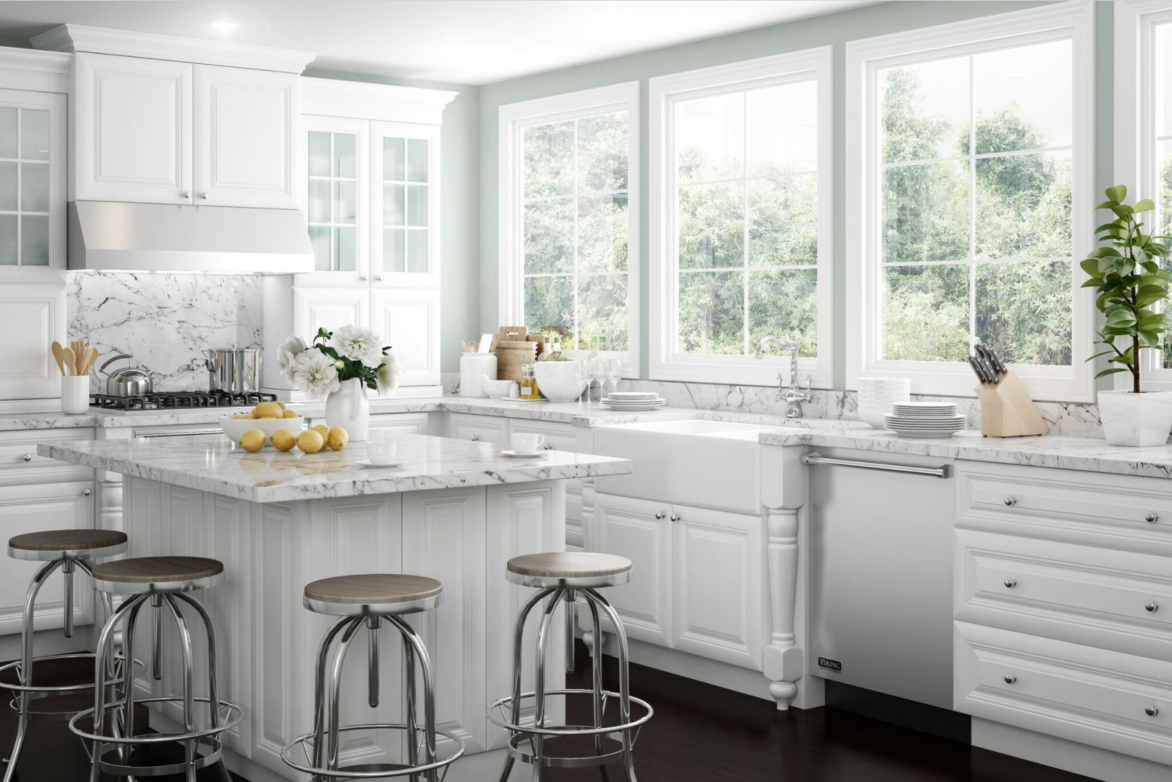 Brookfield Bath Cabinets In Pacific White