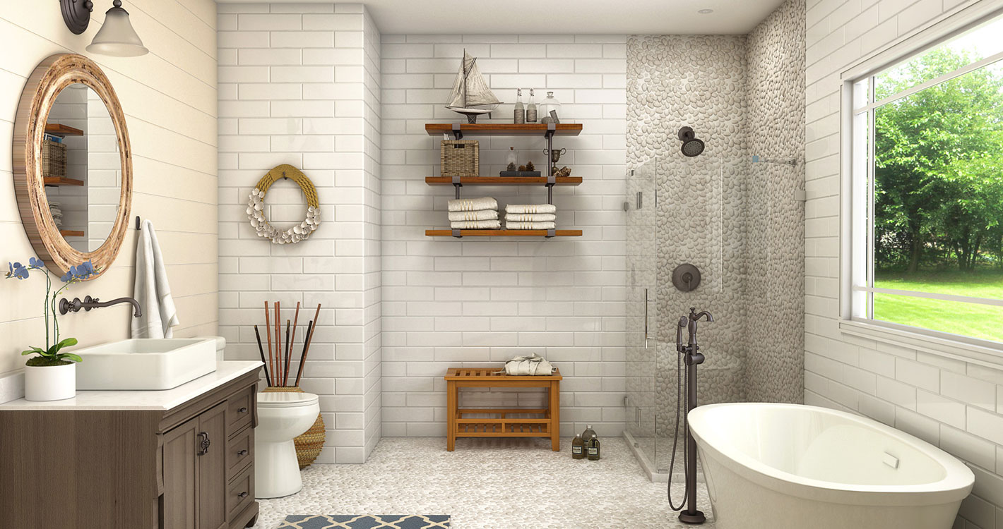 Natural Bathroom Ideas: Natural Coastal