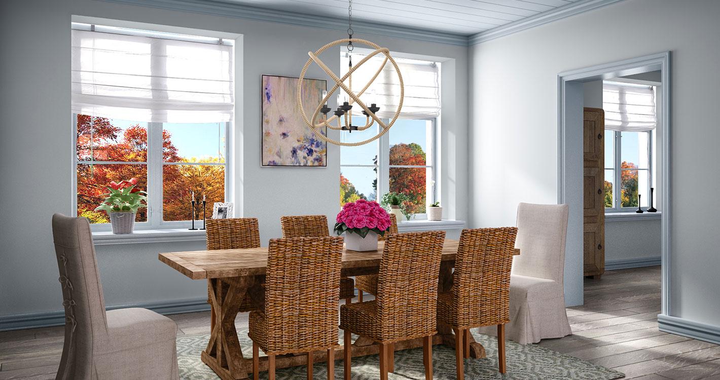 Coastal Dining Room. East Coast Eclectic