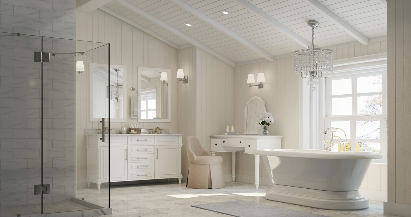 Coastal Bath Decor: Coastal Cottage