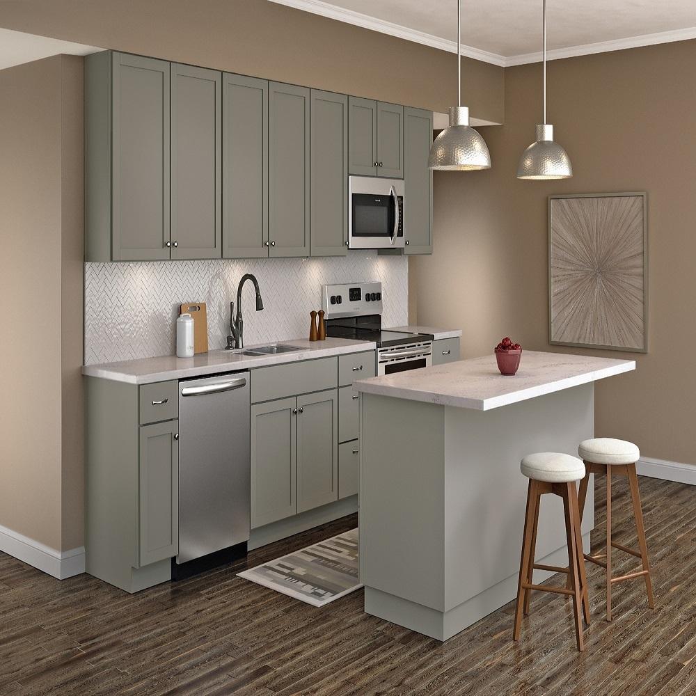 Home Depot Gray Kitchen Cabinets / Hampton Bay Designer ...