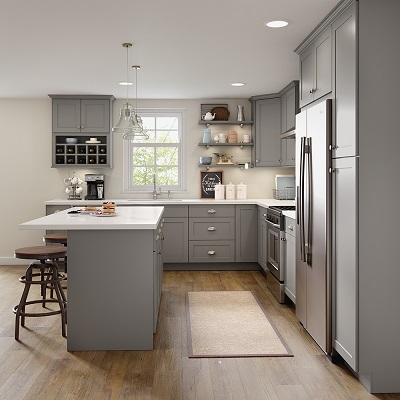 Cambridge Base Cabinets in Gray - Kitchen - The Home Depot