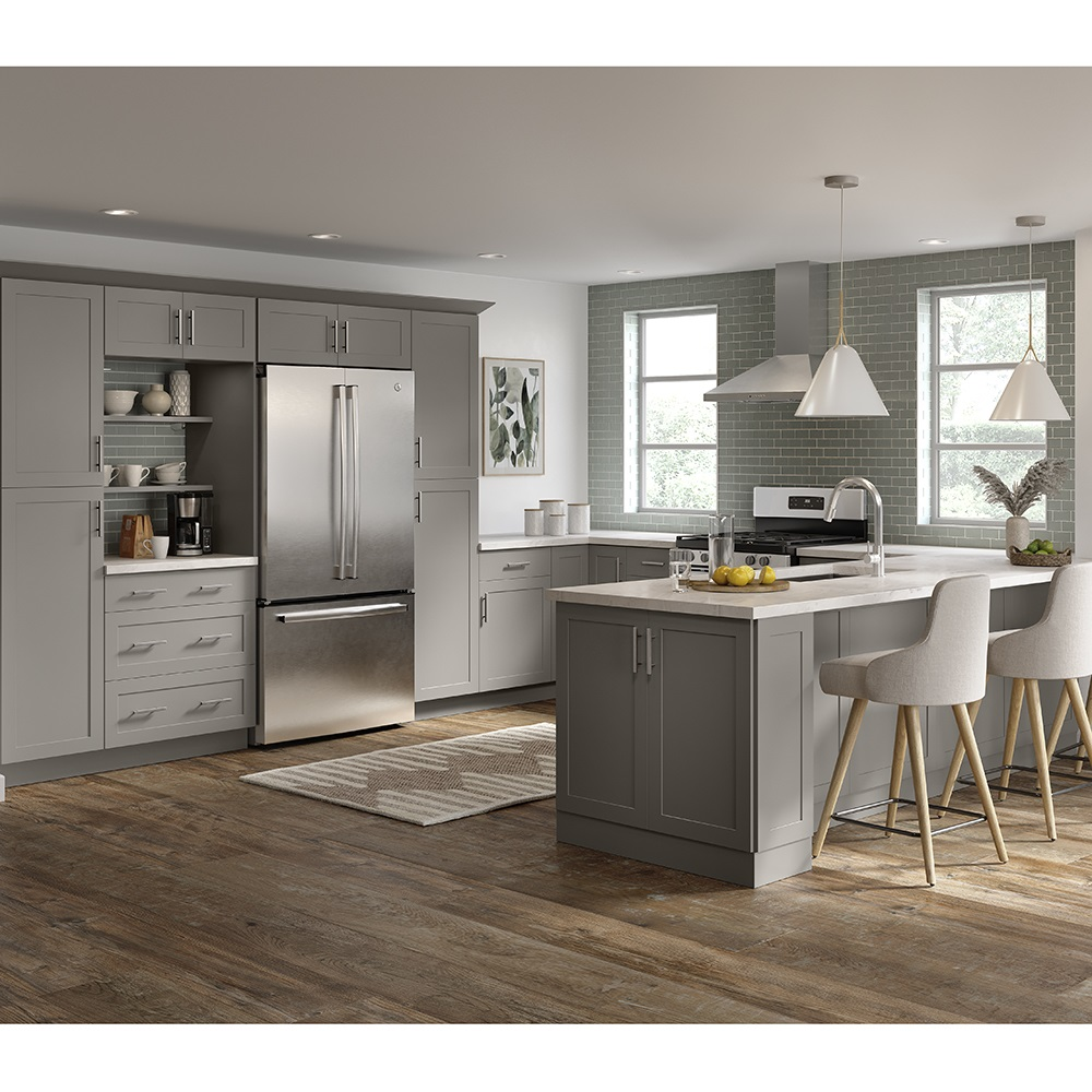 Cambridge Base Cabinets in Gray – Kitchen – The Home Depot