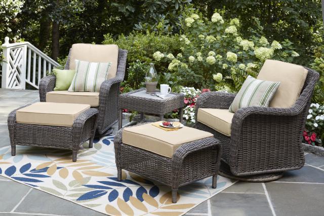 Groovy Cambridge Grey Collection Outdoors The Home Depot Inzonedesignstudio Interior Chair Design Inzonedesignstudiocom