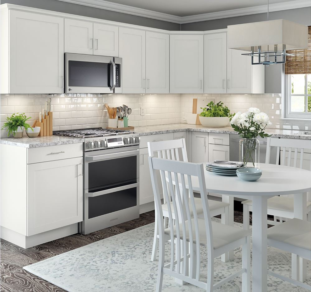 Cambridge Base Cabinets in White – Kitchen – The Home Depot