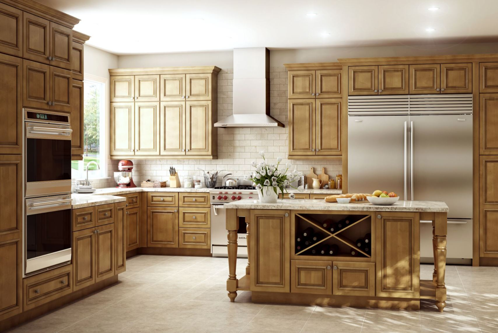 Clevedon base cabinets in toffee glaze kitchen the home depot