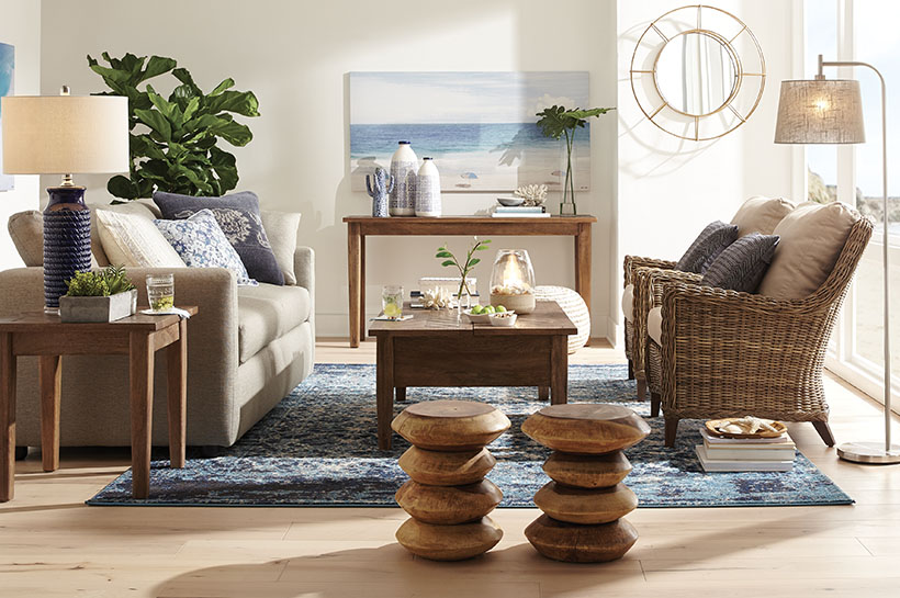 Global Coastal Living Room – Shop by Room – The Home Depot