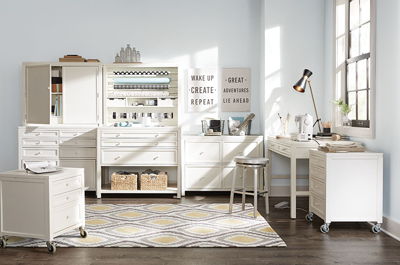 Global Farmhouse Craft Room Shop By Room The Home Depot