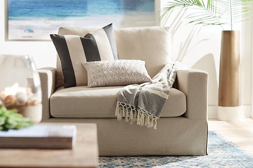 Room And Style Ideas. Global Coastal Living Room