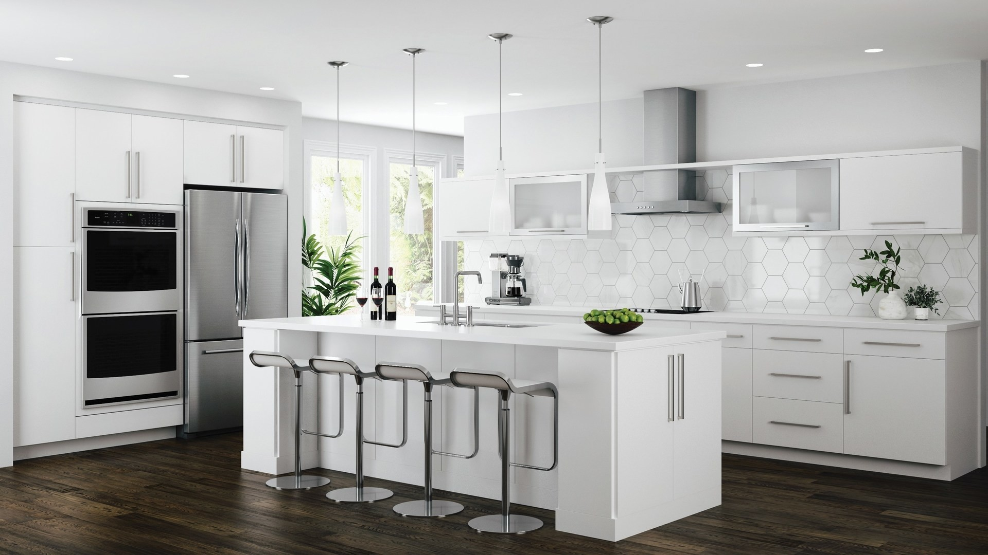 Edgeley Base Cabinets In White Kitchen The Home Depot