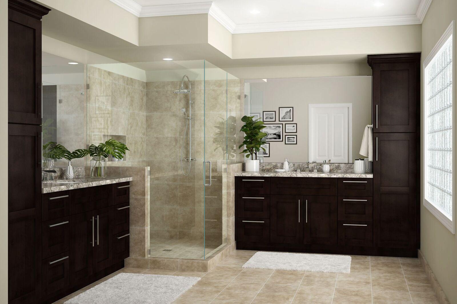 Franklin Bath Cabinets In Manganite