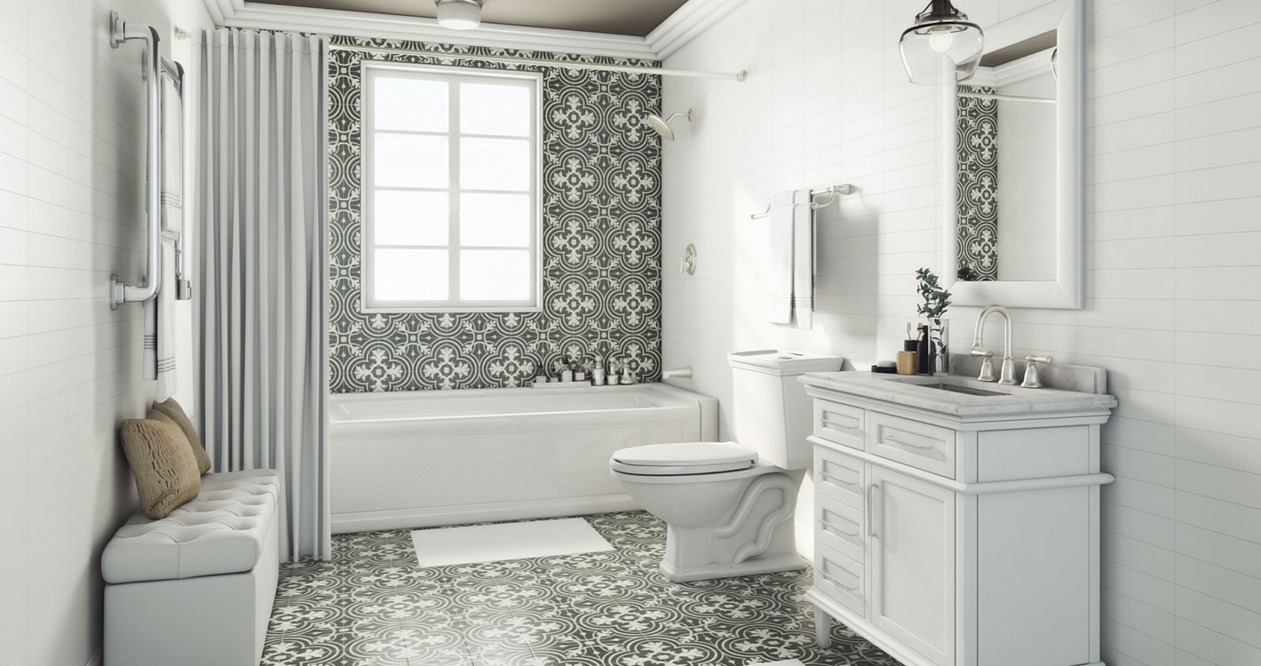 Parisian Powder Room – Shop by Room – The Home Depot