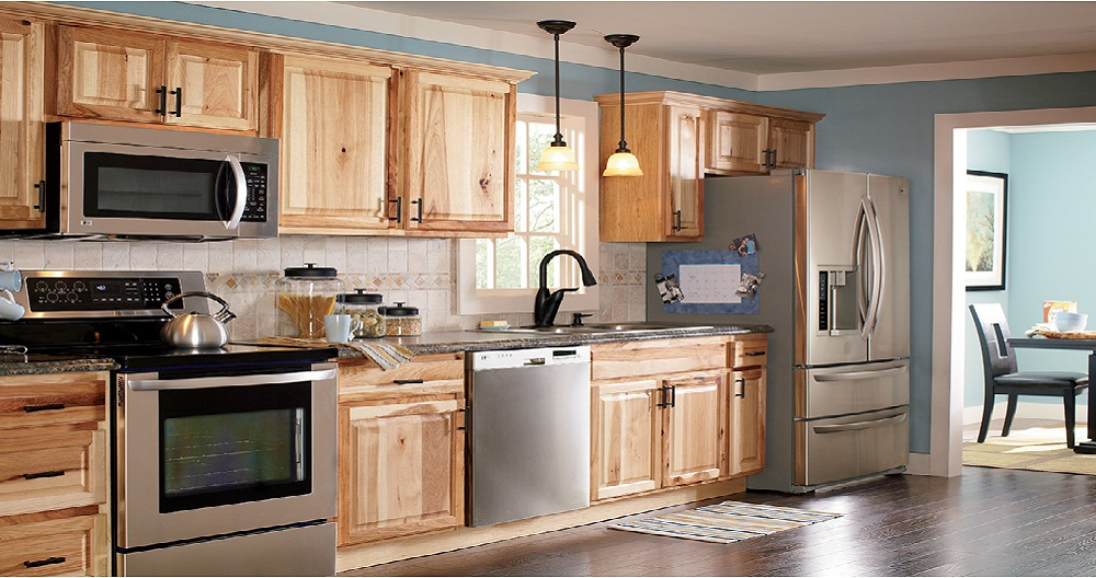 Hampton Bath Cabinets in Natural Hickory – Kitchen – The Home Depot