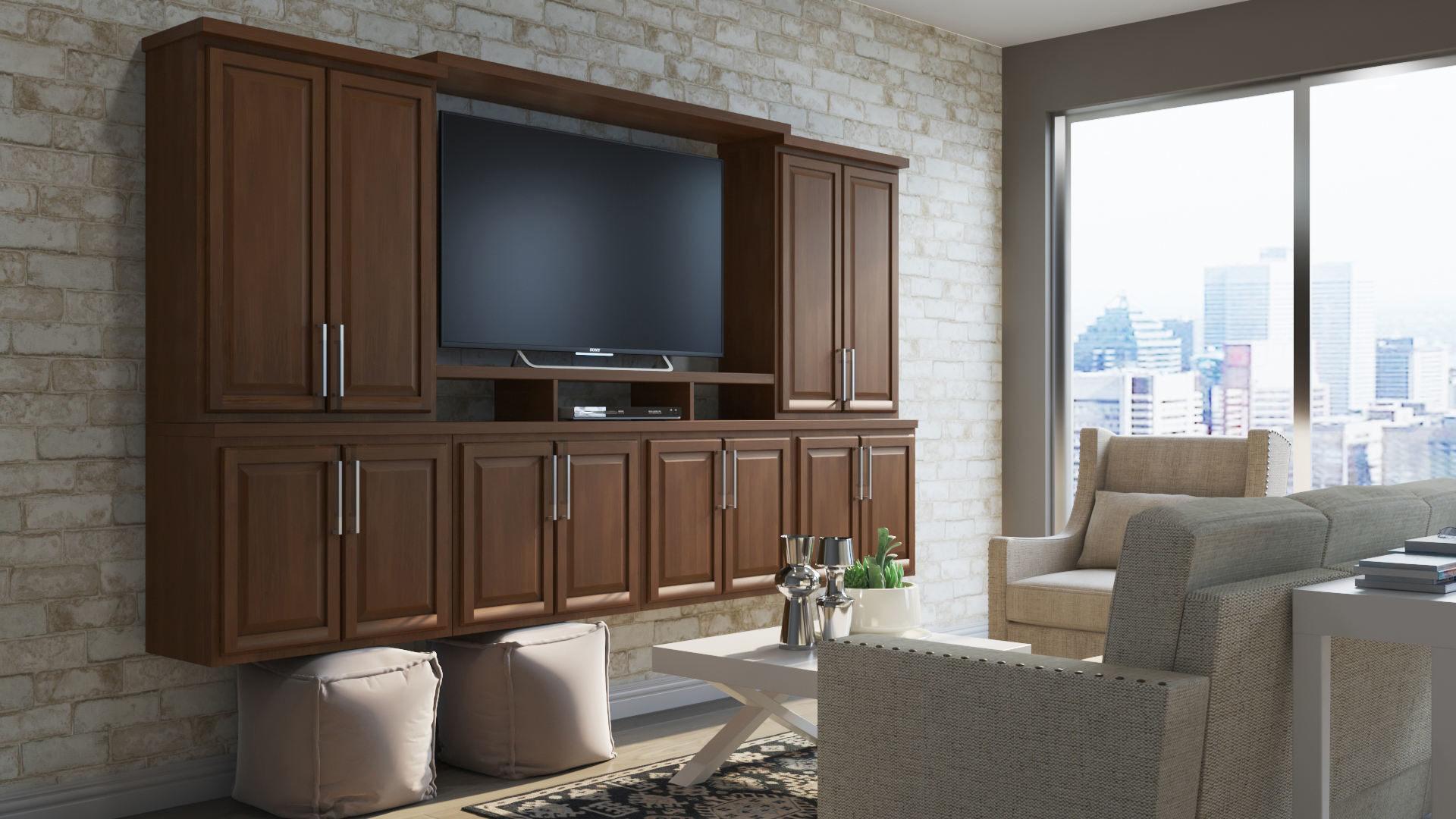 Hampton Wall Kitchen Cabinets In Cognac