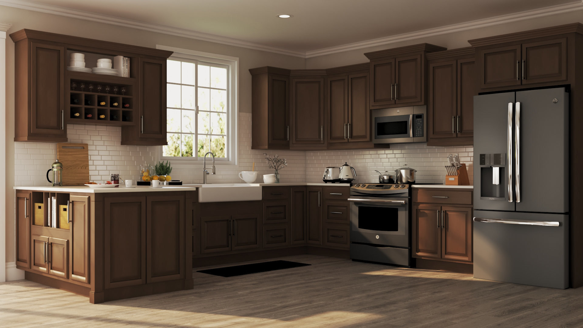 Hampton Bay Kitchen Cabinets Cognac Wow Blog