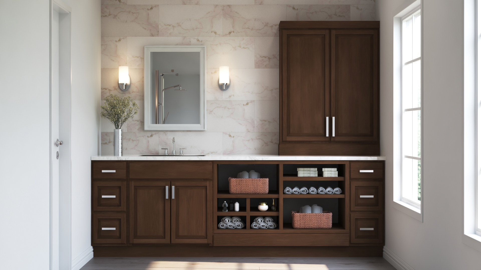 Hampton Wall Kitchen Cabinets In Cognac Kitchen The