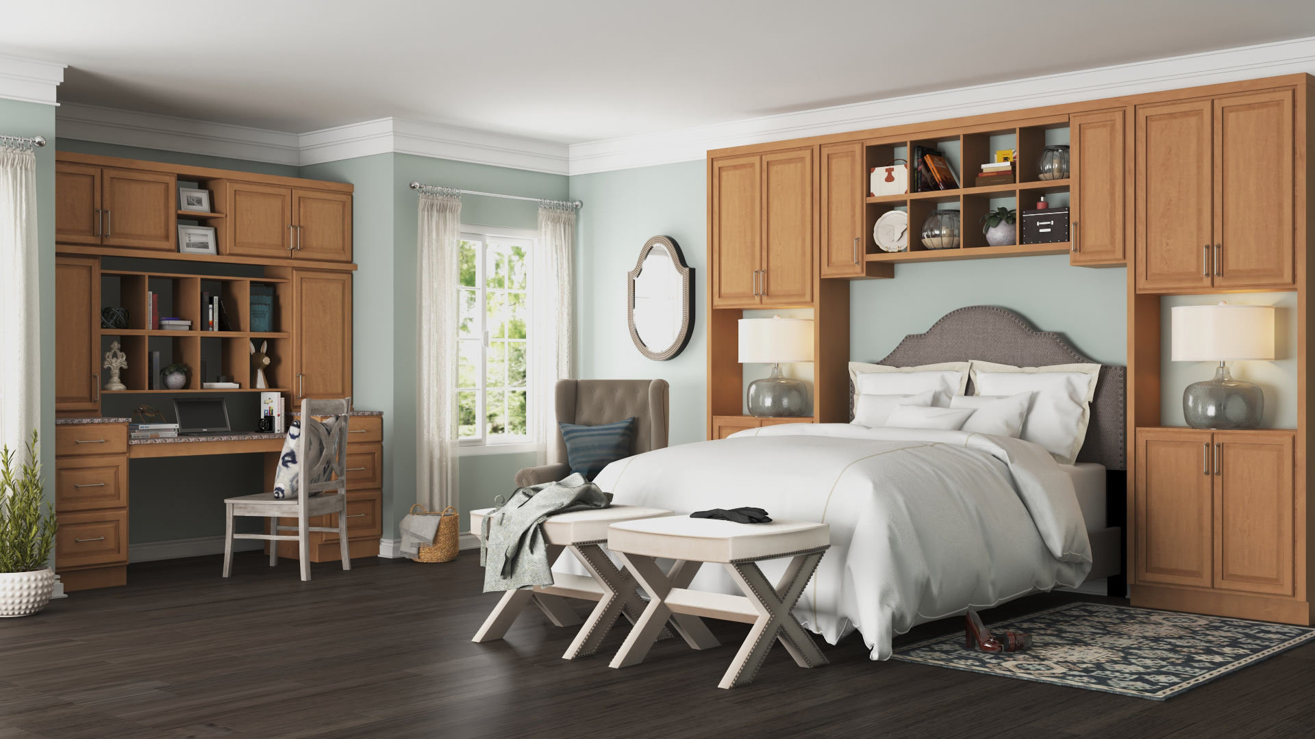 Hampton Wall Kitchen Cabinets in Medium Oak - Kitchen ...