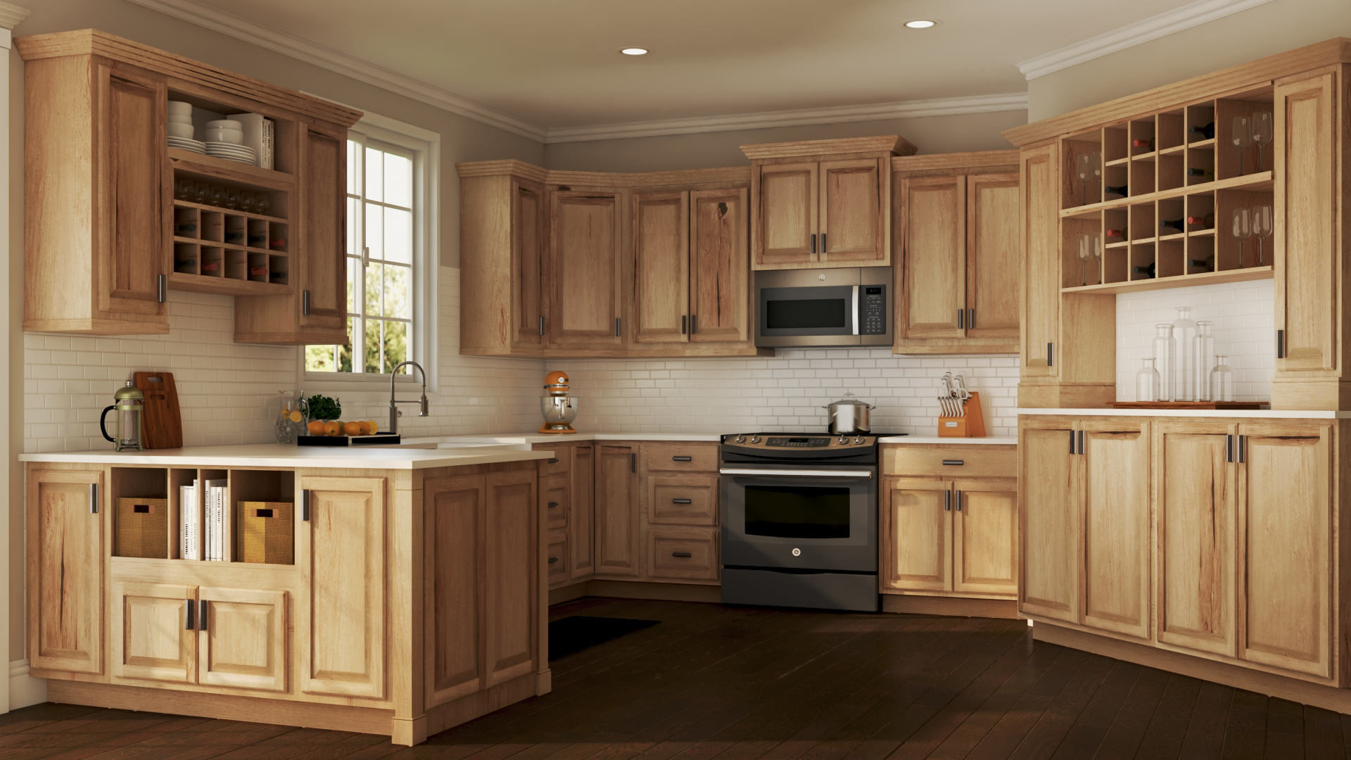 Hampton Bath Cabinets in Natural Hickory – Kitchen – The ...