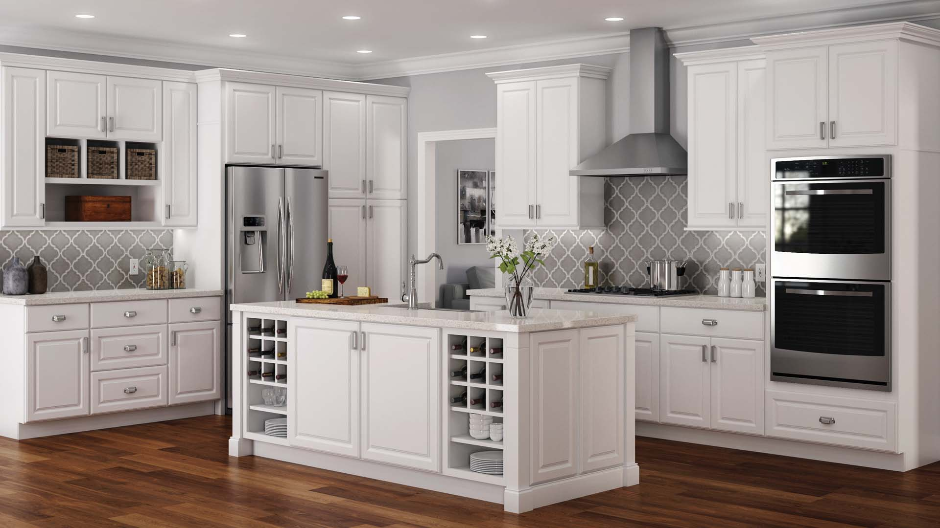 Hampton Base Cabinets In White
