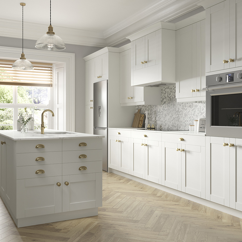 Shaker Cabinet Accessories in Vanilla White - Kitchen ...