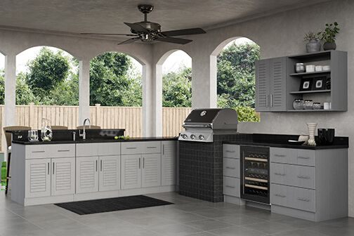 Key West Base Cabinets in Rustic Gray – Kitchen – The Home ...