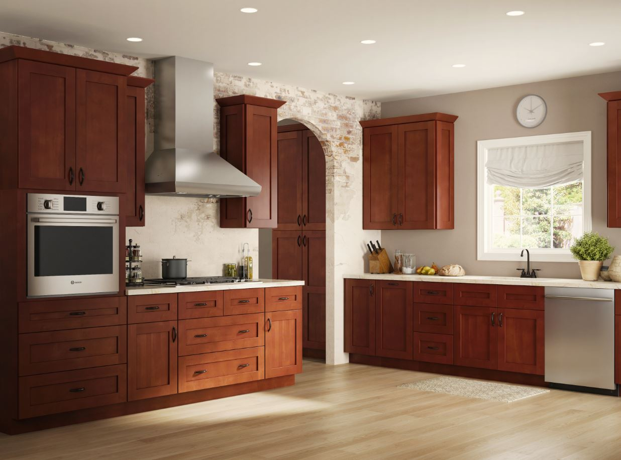 Kingsbridge Base Cabinets In Cabernet Kitchen The Home Depot