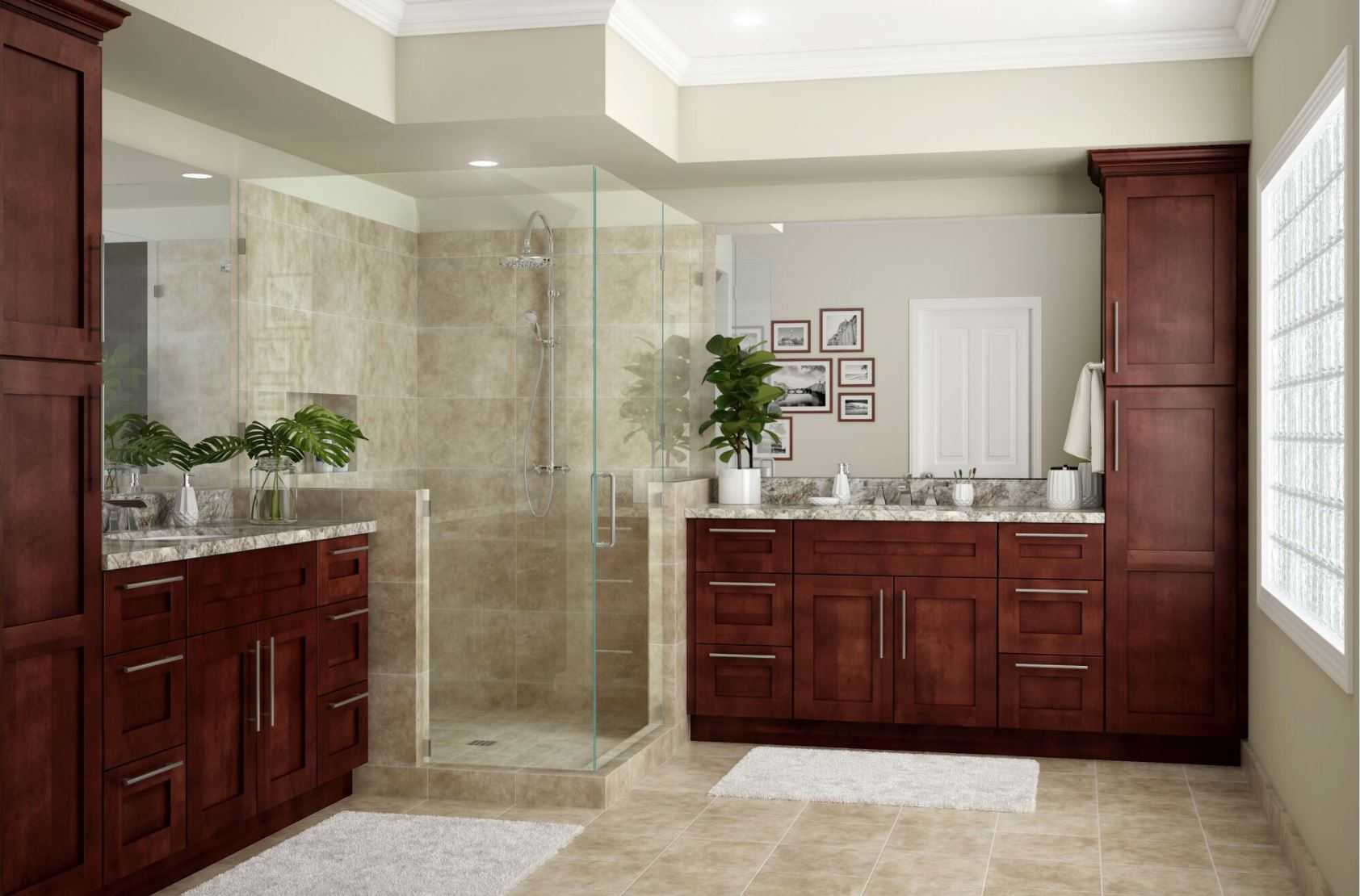 Kingsbridge Pantry Cabinets in Cabernet - Kitchen - The ...