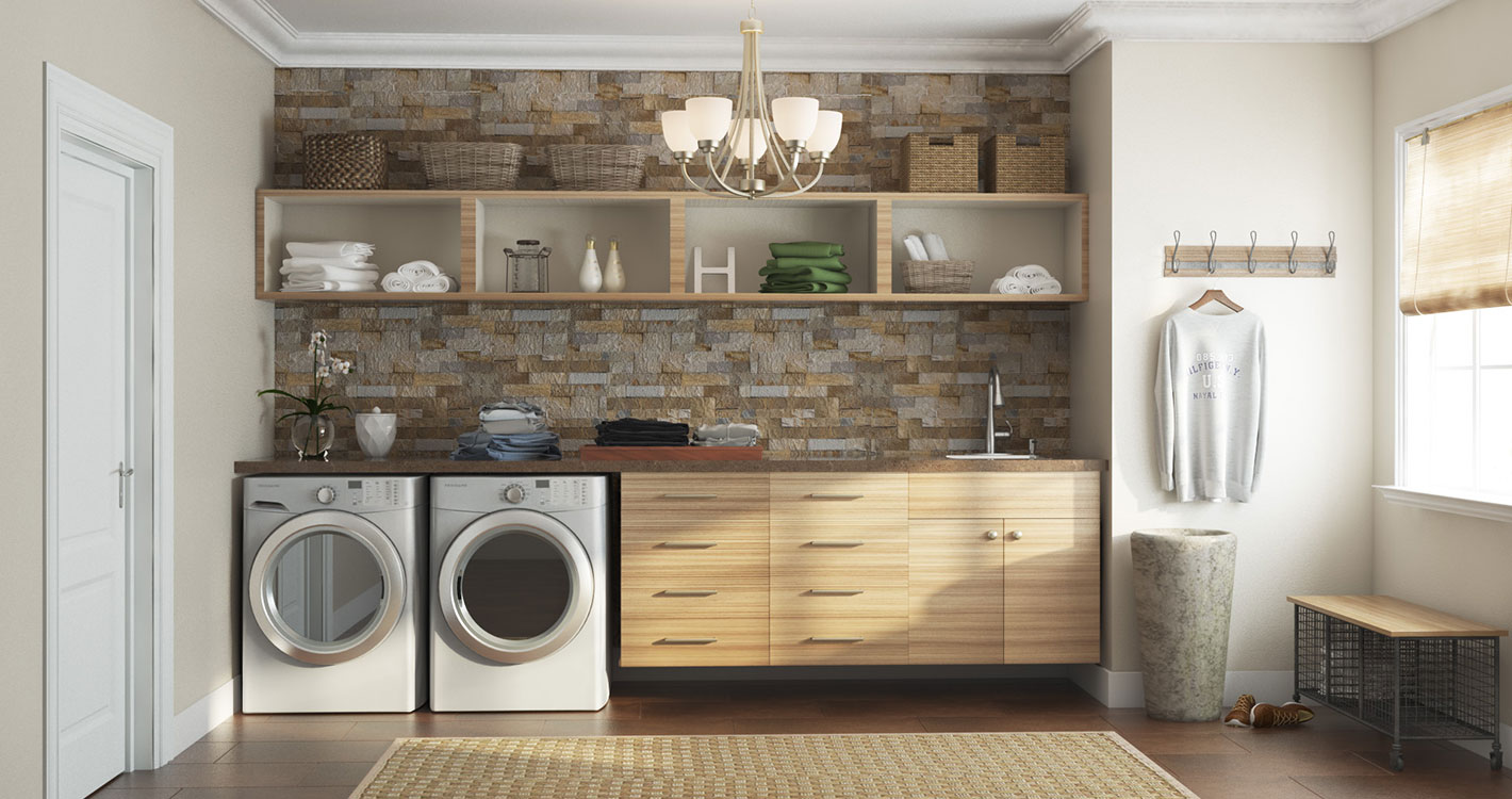Modern mudroom the home depot for House plans with mudroom and laundry room