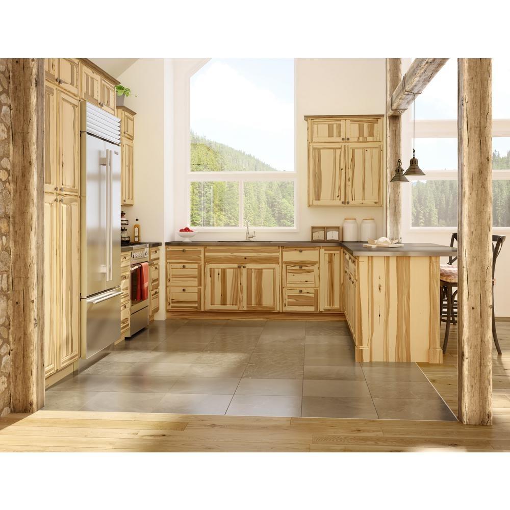 Madison Pantry Cabinets in Hickory - Kitchen - The Home Depot