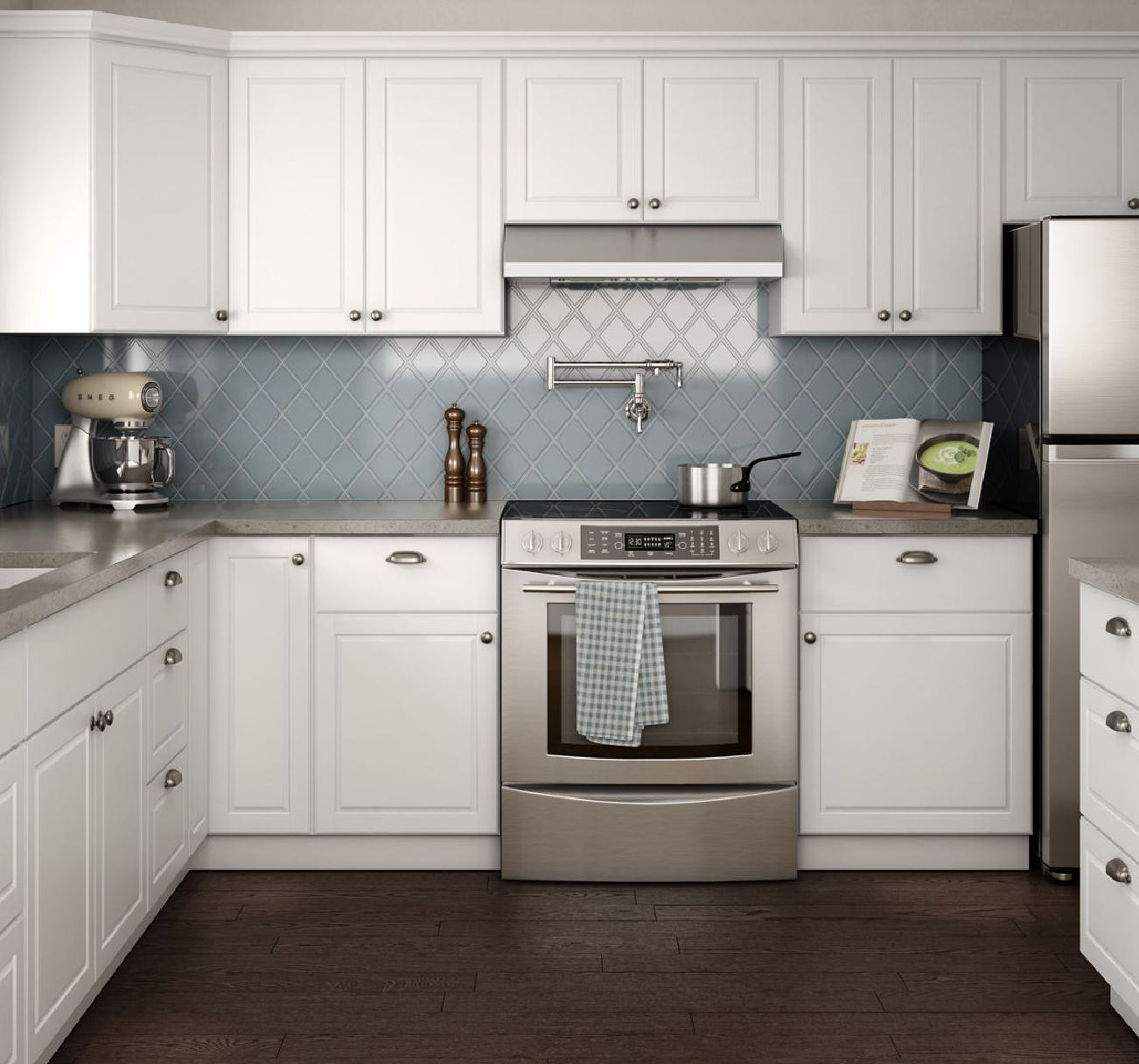 Pictures Of White Kitchens: Madison Cabinet Accessories In Warm White