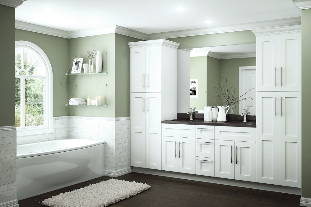 Newport Bath Cabinets in Pacific White – Kitchen – The Home Depot