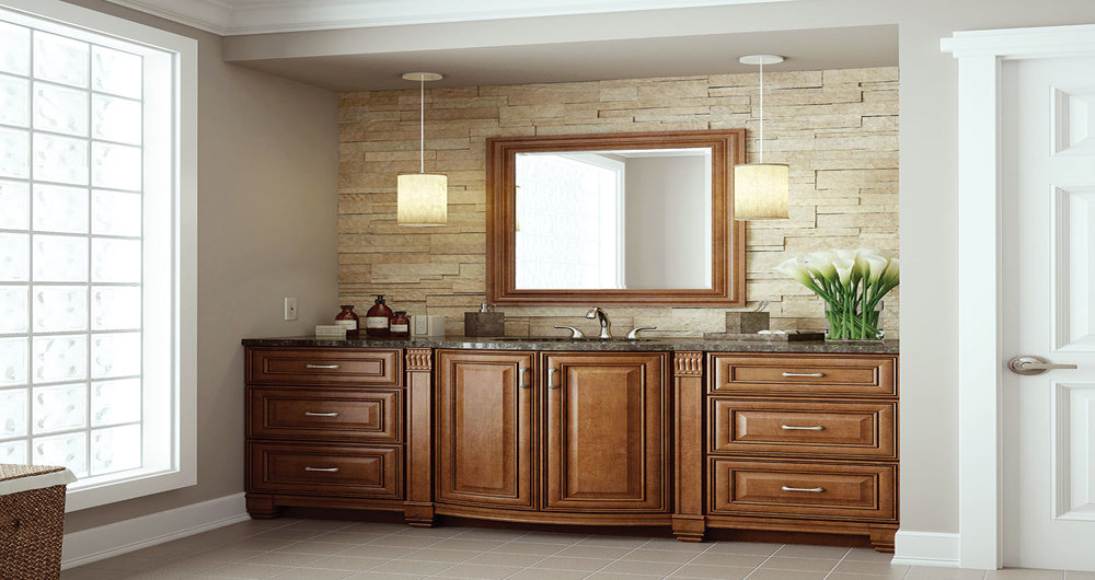 Oxford Bath Vanity Collection In Toasted Almond